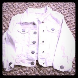 children's place white jean jacket
